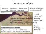 succes van a pen