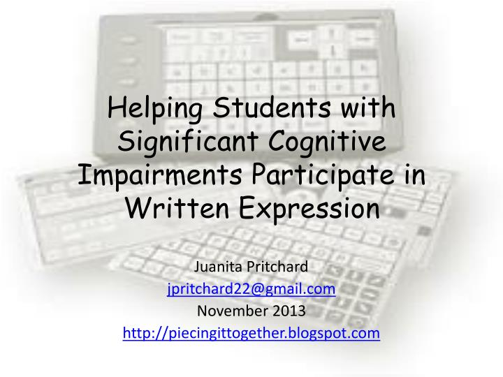 helping students with significant cognitive impairments participate in written expression n.