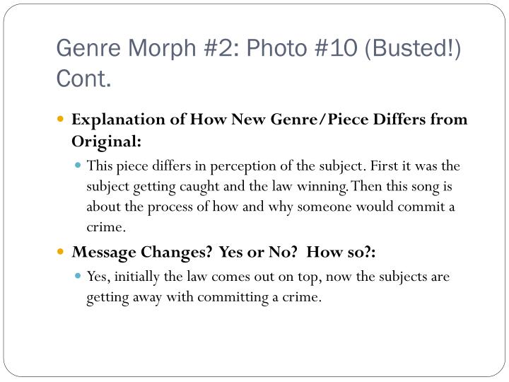 Genre Morph