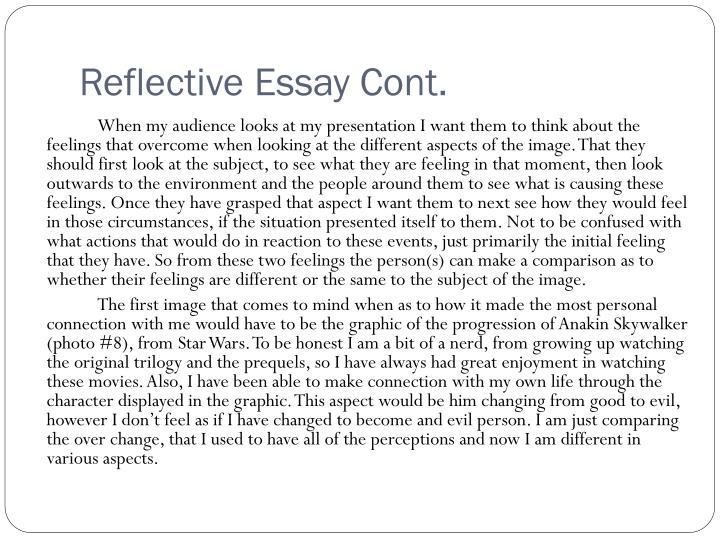 Reflective essay cont