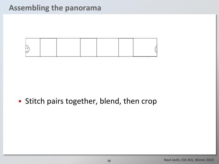 Assembling the panorama