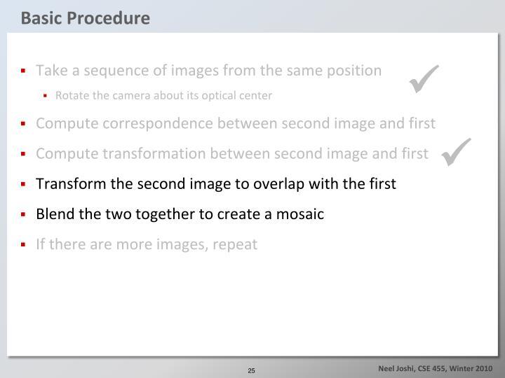 Basic Procedure