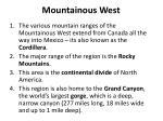 mountainous west