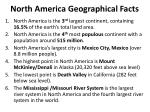 north america geographical facts