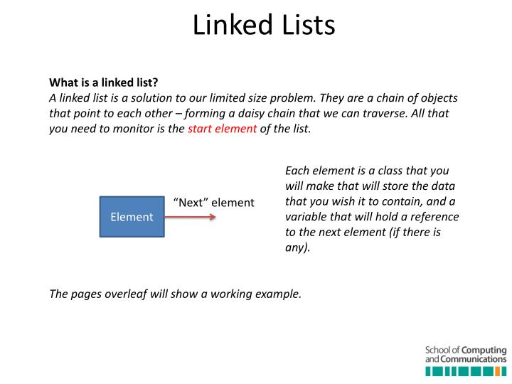 What is a linked list?