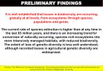 preliminary findings4