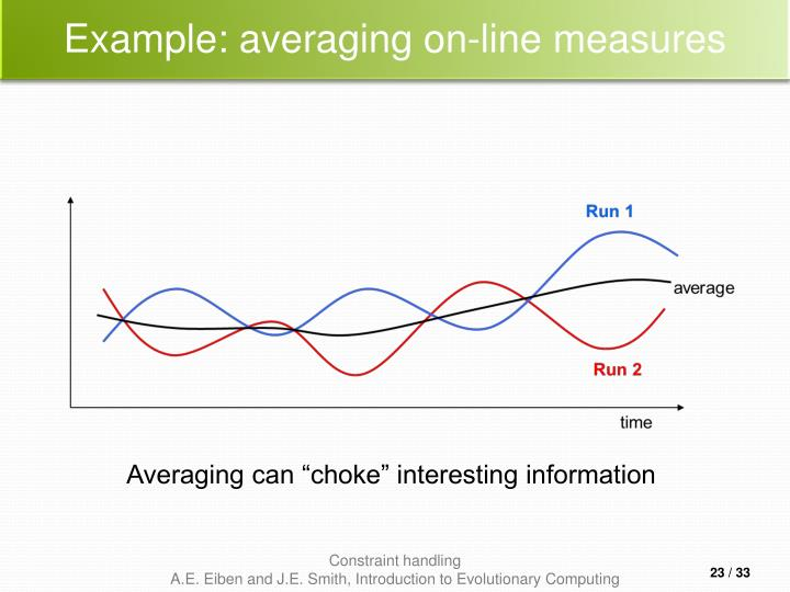 Example: averaging on-line measures