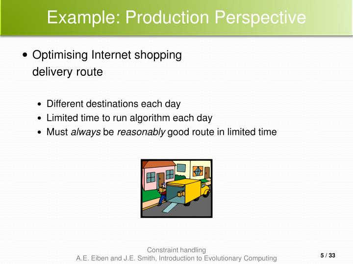 Example: Production Perspective