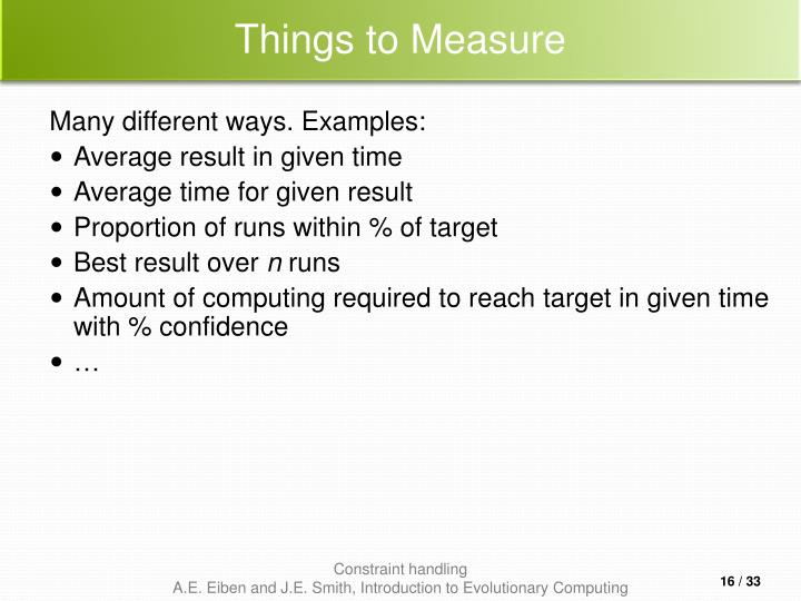 Things to Measure