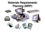 materials requirements planning mrp