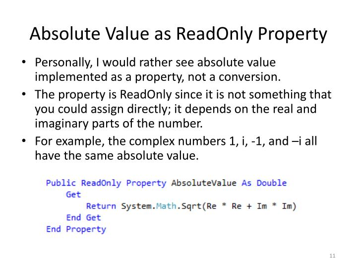 Absolute Value as