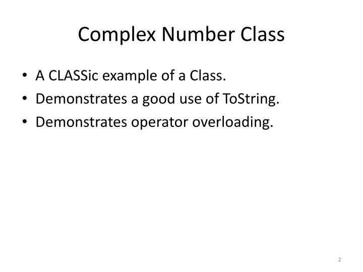 Complex number class