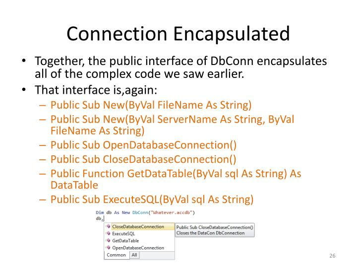 Connection Encapsulated