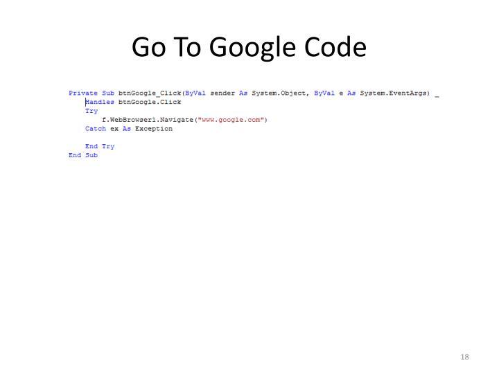 Go To Google Code