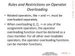rules and restrictions on operator overloading3