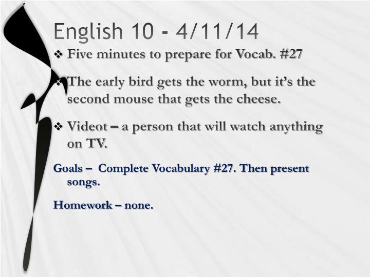 English 10 -