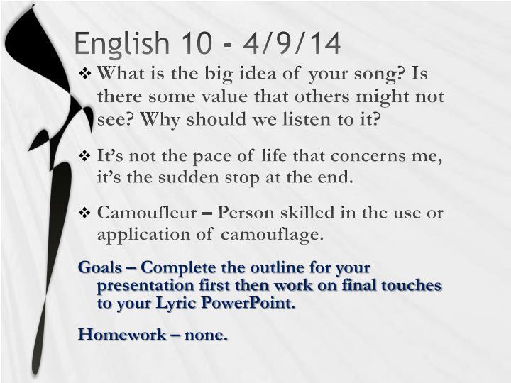 English 10 4 9 14