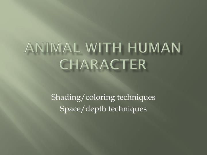 animal with human character n.