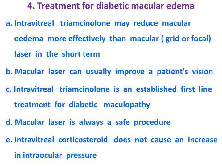 4. Treatment for diabetic macular edema
