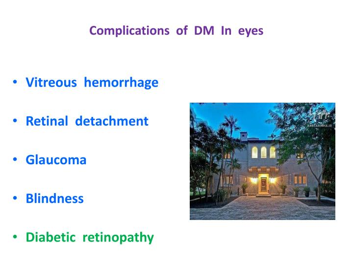 Complications  of  DM  In  eyes