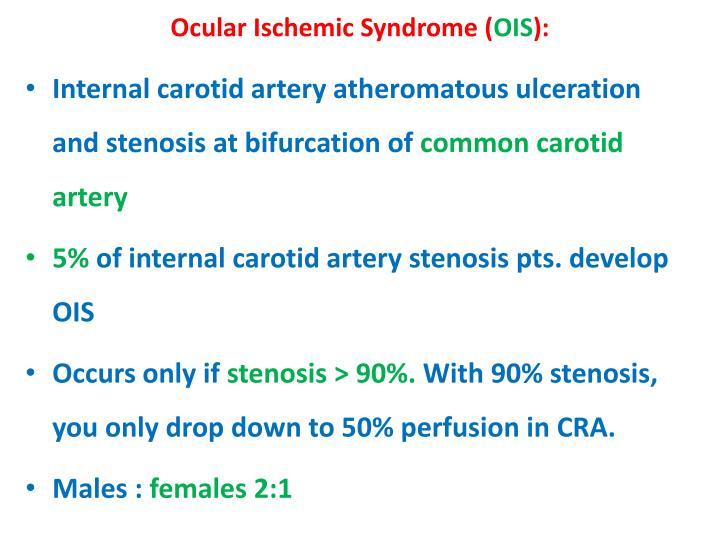 Ocular Ischemic Syndrome (