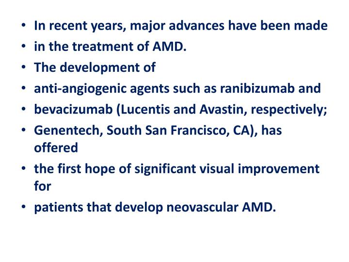In recent years, major advances have been made