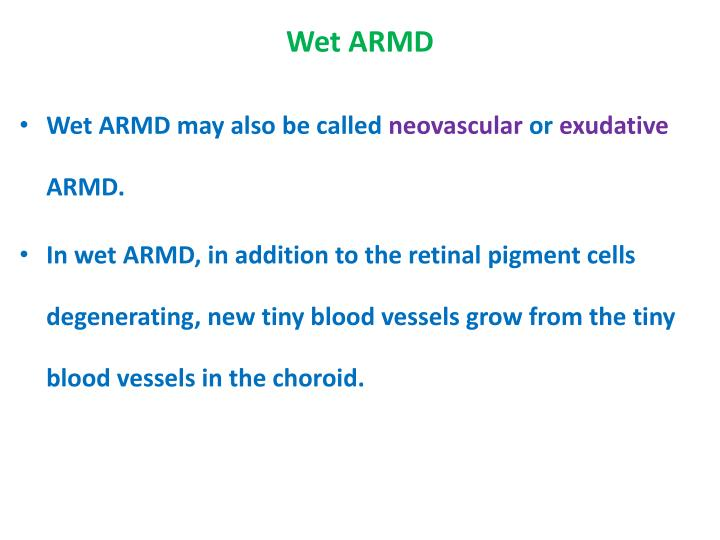 Wet ARMD