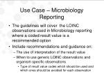 use case microbiology reporting1