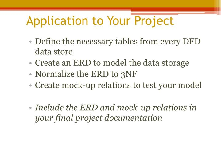 Application to Your Project
