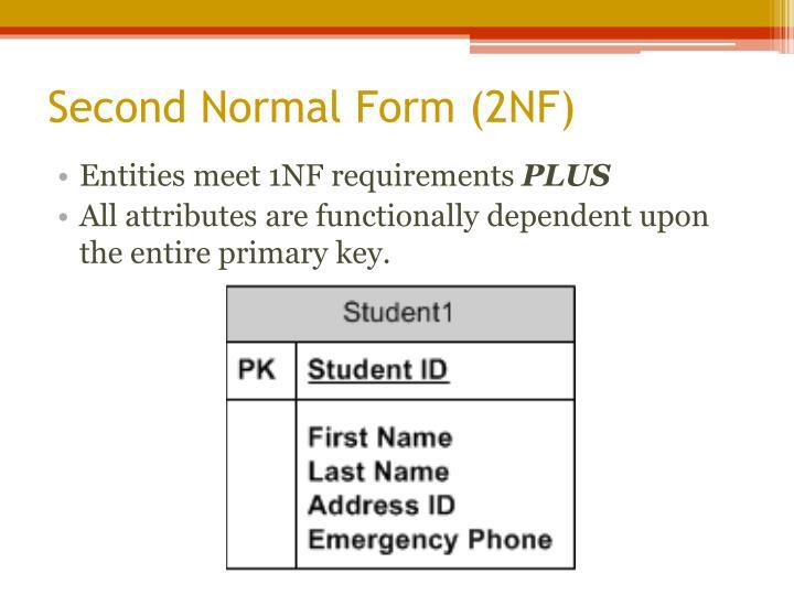 Entities meet 1NF requirements