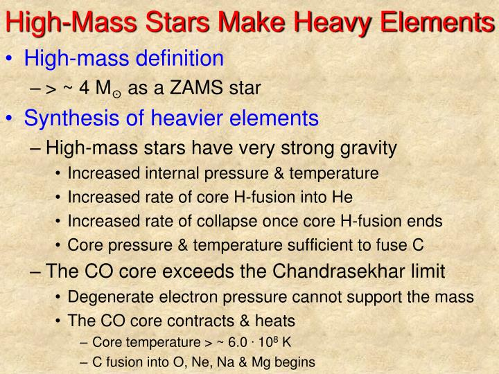 High-Mass Stars Make Heavy Elements