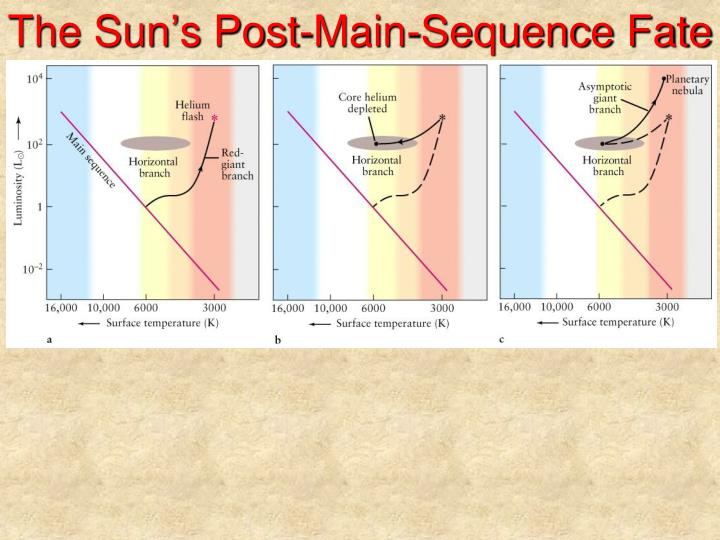 The sun s post main sequence fate
