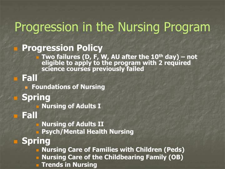 Progression in the Nursing Program