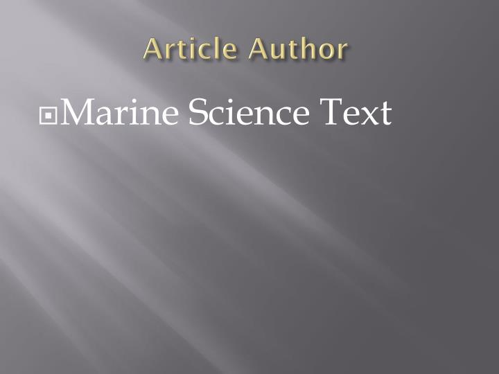 Article author