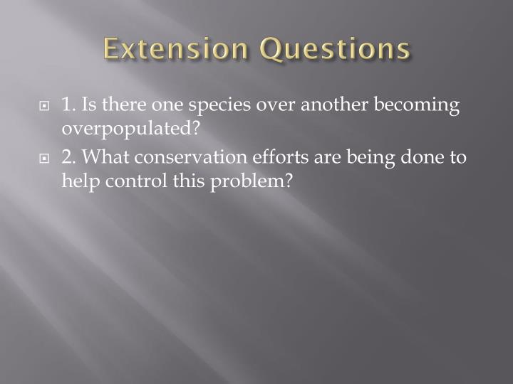 Extension Questions