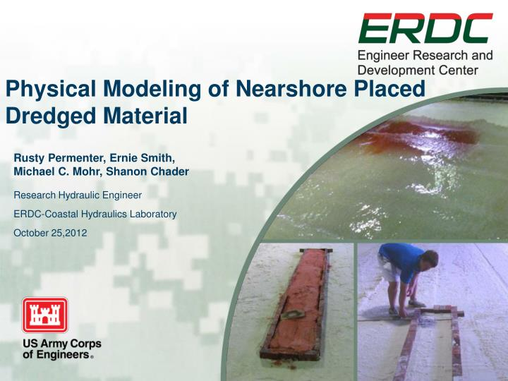 physical modeling of nearshore placed dredged material n.