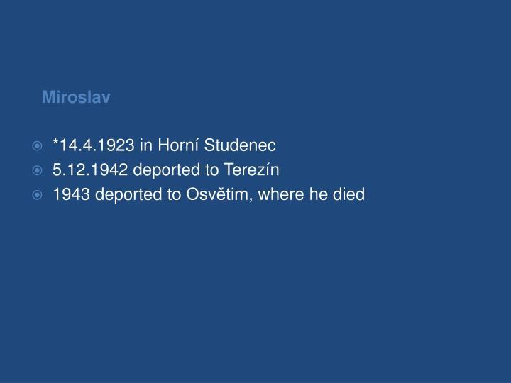 *14.4.1923 in Horní