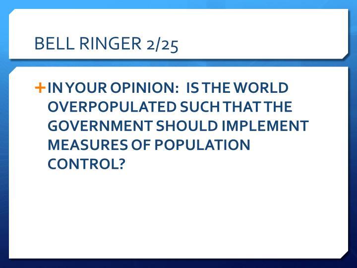BELL RINGER 2/25
