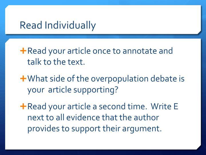 Read Individually