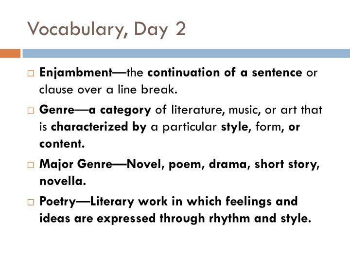 Vocabulary day 2