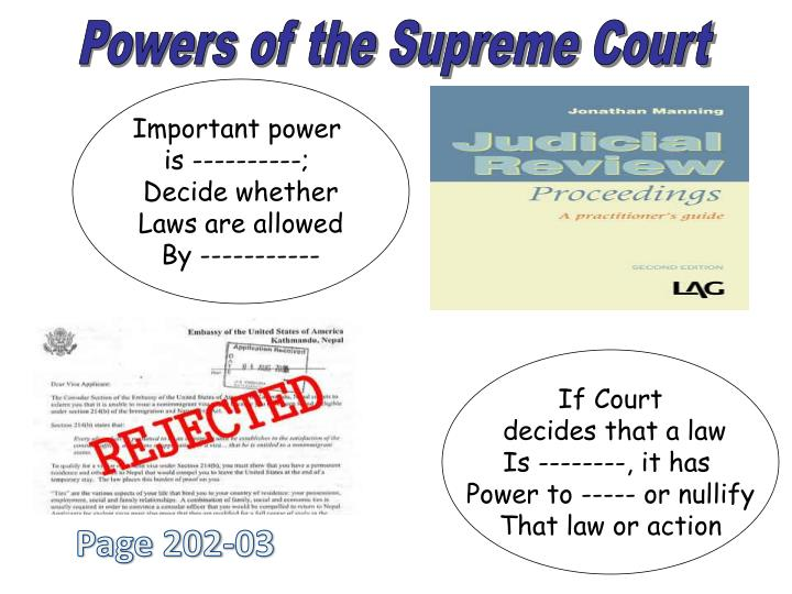 Powers of the Supreme Court