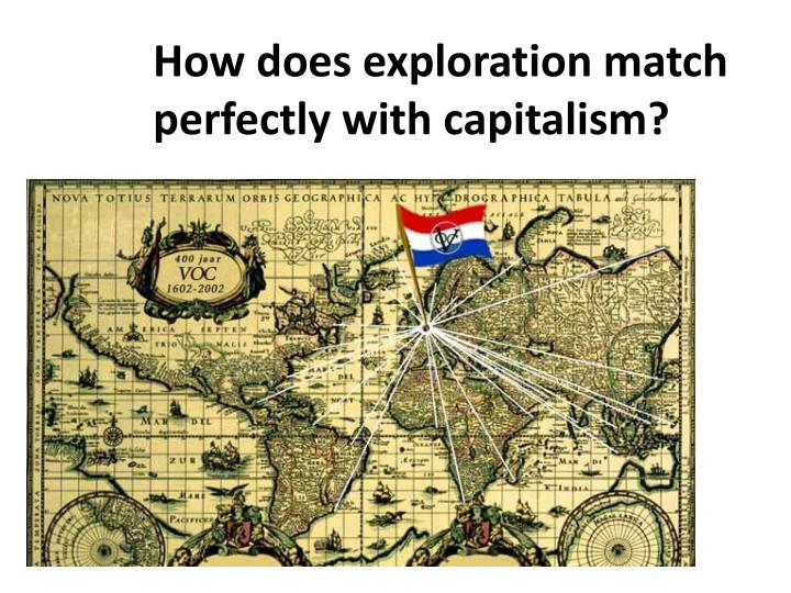 How does exploration match perfectly with capitalism?