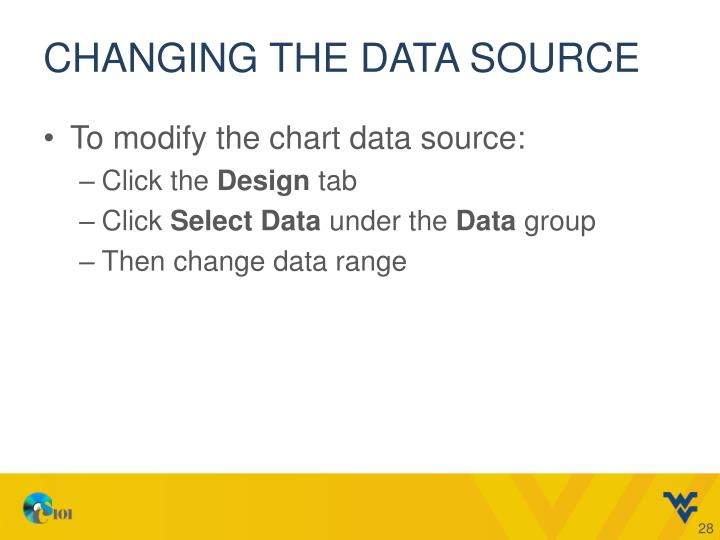 Changing the Data Source
