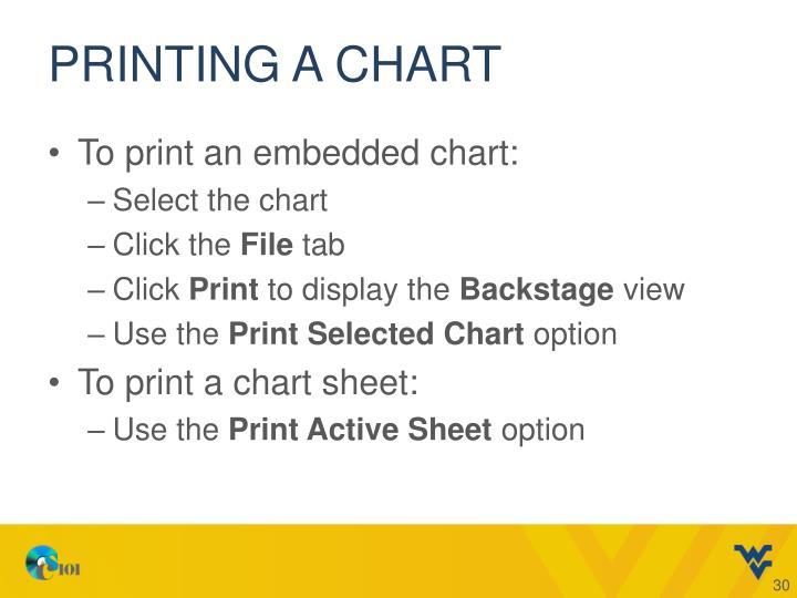 Printing a Chart