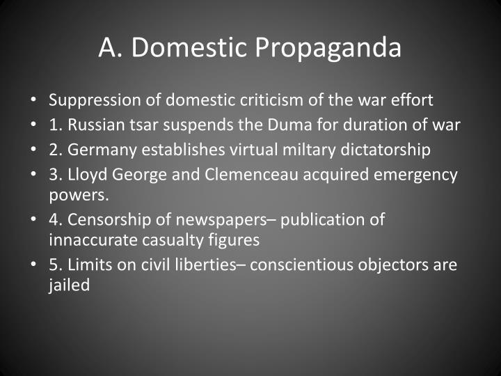 A domestic propaganda