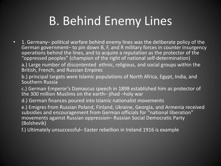 B. Behind Enemy Lines