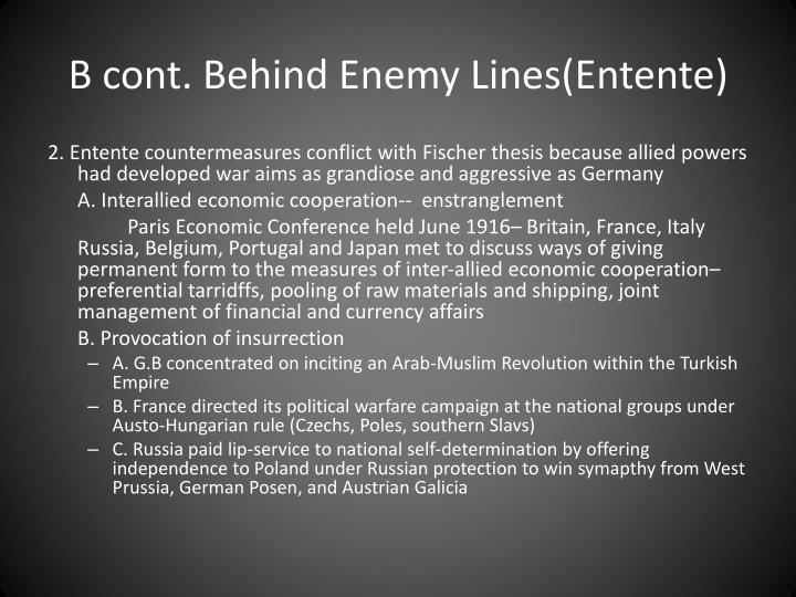 B cont. Behind Enemy Lines(Entente)