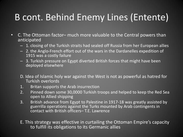 B cont. Behind Enemy Lines (Entente)
