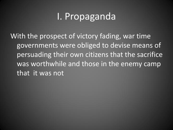 I propaganda
