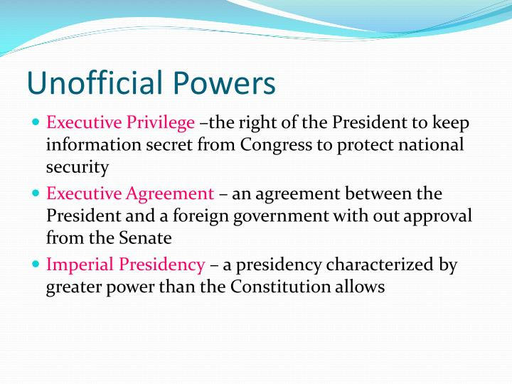Unofficial Powers